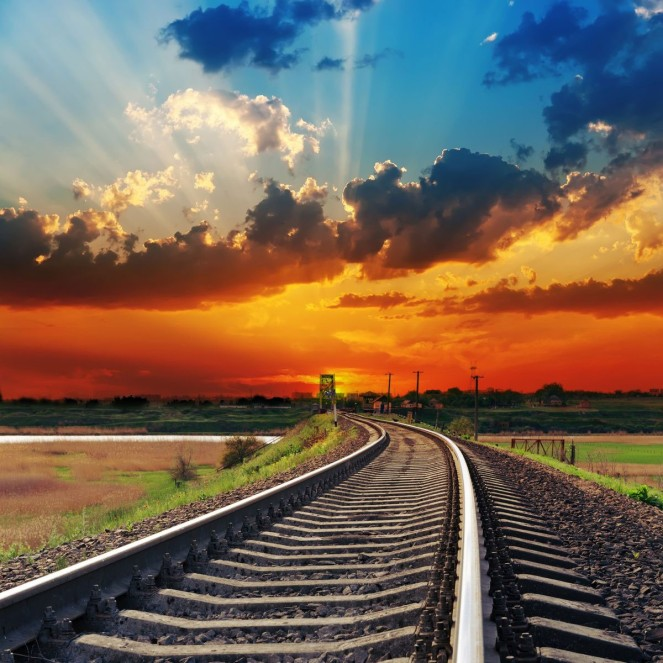 train-track-sunset